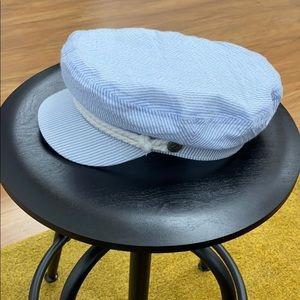 Fiddler Cap - Blue + White